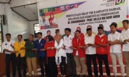 Tim Kampanye dan Relawan  Pinrang Siap Menangkan Jokowi-Ma'ruf