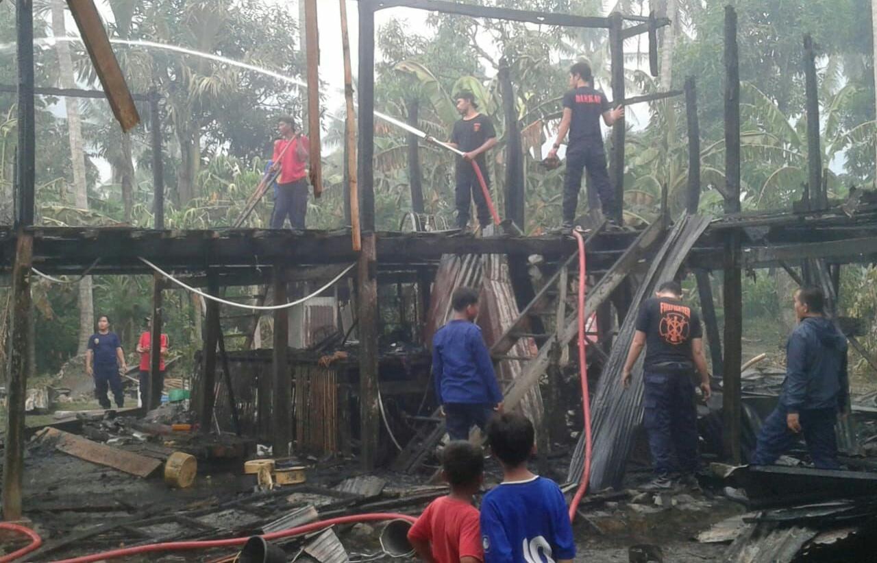 Kerugian ditaksir Ratusan Juta, Rumah Anak Masse Terbakar