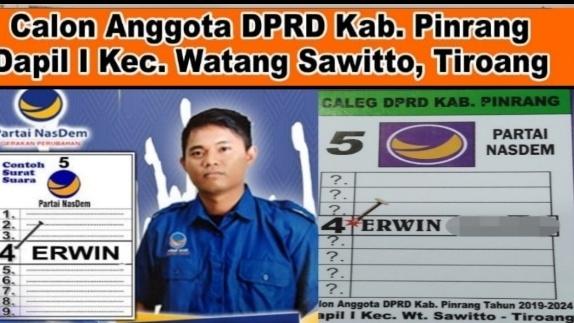Erwin Caleg Muda Nasdem Pinrang ,Siap Serap Aspirasi Masyarakat