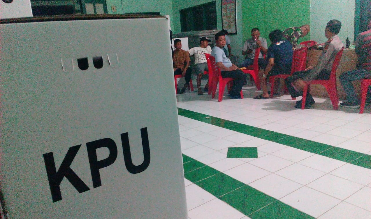 Logistik Pemilu Kecamatan Lanrisang tiba di Sekret PPK