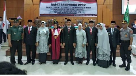 Didefinitifkan Unsur Pimpinan DPRD Sidrap, oleh Ketua Pengadilan Negeri