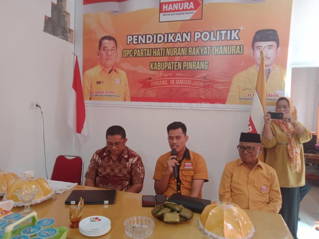DPC Partai Hanura, Sukses Gelar Pendidikan Politik di Pinrang