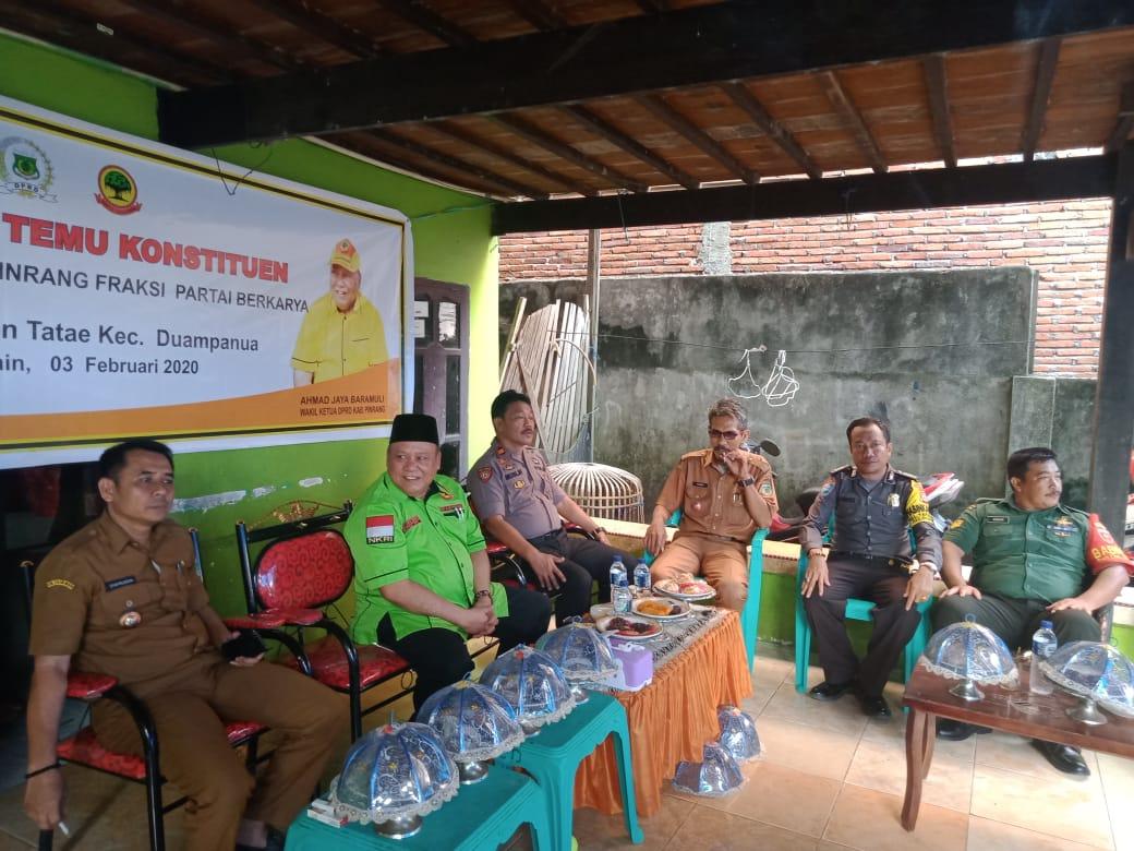 Reses Ahmad Jaya Baramuli di Duampanua Pinrang Disambut Ratusan Warga