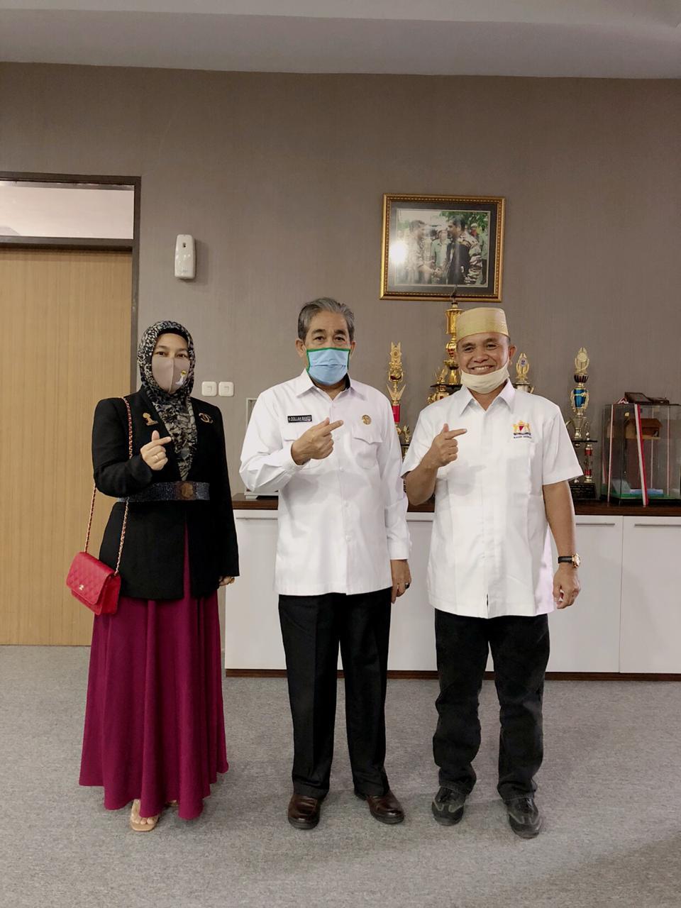 Usai Dilantik, Pengurus Hipmi Sidrap Audiensi dengan Bupati Dollah Mando