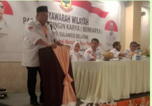 Musyawarah Wilayah Partai Berkarya, Secara Aklamasi Ahmad Jaya Baramuli Jabat Ketua DPW Sulsel