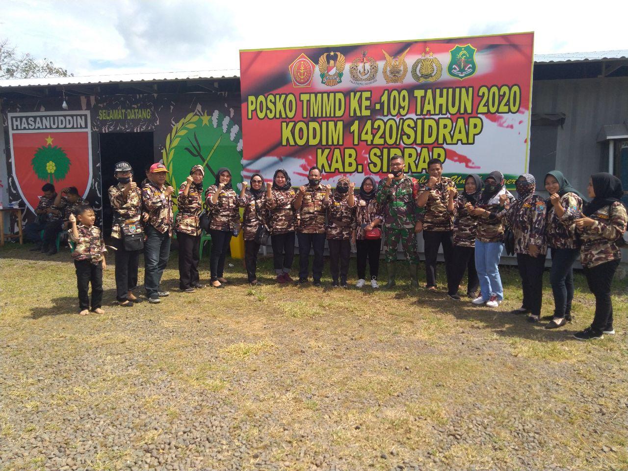 Satgas TMMD ke-109 di Sidrap Dapat Dukungan dari FKPPI